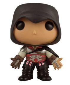 POP Games: Assassin's Creed Black Ezio Vinyl (Limited Edition)   Schicke Ezio  - POP! Figur aus der berühmten `Assassin's Creed `- Game - Reihe. - Limited Edition - detailierte Mini- Figur, ca. 10 cm - Lieferung in schicker Fensterbox Assassin`s Creed - Hadesflamme - Merchandise - Onlineshop für alles was das (Fan) Herz begehrt!