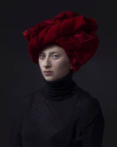 """Red Turban Hendrik Kerstens has for the last 17 years been producing an ongoing body of work that explores some of the many intersections between painting and photography. Using his daughter Paula as his only subject, Kerstens not only photographs her in reference to Old Master Dutch painting but also in relation to her own life and the world we live in today. The titles give the game away. """"Napkin"""" looks like a maid's bonnet. In """"Bag"""", a plastic grocery bag is shaped to look like a lace…"""