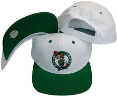 Boston Celtics White Green Two Tone Snapback Adjustable Plastic Snap Back  Hat   Cap by 773a980ba219