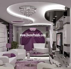 Gypsum False Ceiling Designs For Large Modern Living Room  Home Fair Ceiling Design For Living Room Design Inspiration