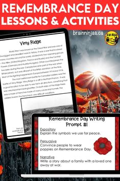 Take your students beyond wearing a poppy by learning about Canadians and the impact of war on their lives with these lessons and activities designed for the upper elementary classroom. They are perfect for Remembrance Day, but you can incorporate them into your social studies lessons any time of year. Come check out these low prep lessons and get your planning done in a snap. Balanced Literacy, Teaching Style, Remembrance Day, Student Teacher, Project Based Learning, Writer Workshop, Teaching Strategies, Upper Elementary
