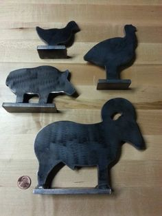 Mild Steel Shooting Target, Animal Plinker, Pig, Chicken, Turkey, Ram NRA 4PCS http://stores.ebay.com/ZigsPlaceUS