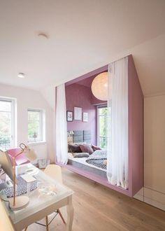Teen Bedroom Designs, Cute Bedroom Ideas, Awesome Bedrooms, Cool Rooms, Bedroom Design For Teen Girls, Dream Rooms, Dream Bedroom, Bedroom 2018, Small Room Bedroom