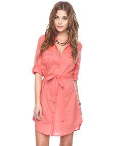 @Forever21 - Such a pretty coral color in a put-it-on-and-go style
