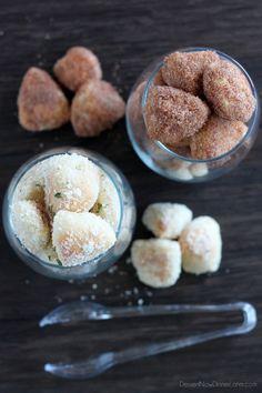 Garlic Parmesan and Cinnamon Sugar Pretzel Bites on MyRecipeMagic.com