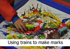 Mark making activities for younger children Eyfs Activities, Train Activities, Creative Activities, Literacy Activities, Infant Activities, Emergent Literacy, Literacy Skills, Early Literacy, Mark Making Early Years