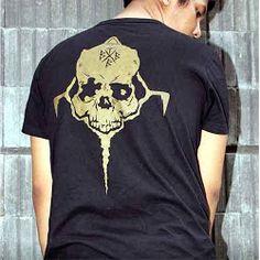 V Neck  Crows Zero - Genji Skull