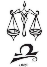 Scales (on the back of my neck)  Libra symbol (finger tat)