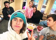Nash Grier with the family