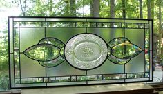 Beveled Transom stained glass window panel