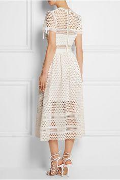 Macramé Midi Dress by Self Portrait