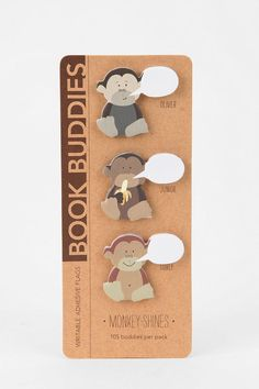 Book Buddies Sticky Notes - Set Of 3  #UrbanOutfitters