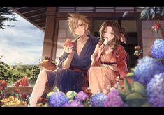 Final Fantasy Cloud, Final Fantasy Artwork, Fantasy Love, Final Fantasy Vii Remake, Fantasy Series, Anime Neko, Anime Art, Cloud Strife, Kawaii Girl