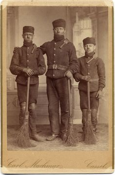 Three chimney sweepers
