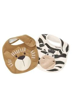 Buy Lion And Zebra Bibs Two Pack from the Next UK online shop
