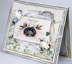Card using papers from Pion Design's Vintage Garden collection.