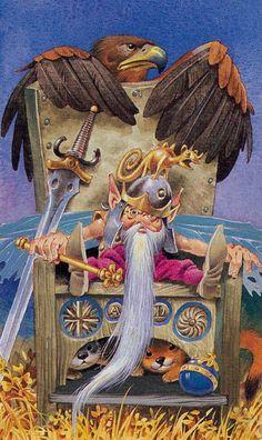 The Emperor - Fairy Tarot (Antonio Lupatelli)