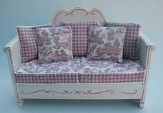 FRENCH+BENCH+-+PINK+-+€75.00+:+Valerie+Anne+Casson,+Miniatures