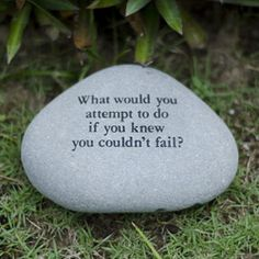 Handmade Stone 'What Would You Attempt' Messenger Rock (Indonesia), Black, Outdoor Décor Coaching Questions, Garden Angels, Garden Quotes, Love Garden, Green Lawn, Garden Fencing, Plant Needs, Organic Gardening, Gardening Tips