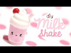 Milkshake! Kawaii Friday 176 polymer clay charm tutorial