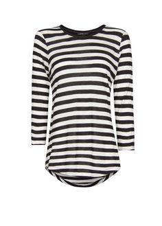 MANGO - Gestreiftes T-Shirt