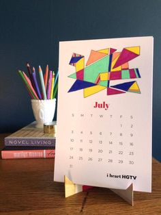 Embrace the Adult Coloring Trend With This Free Printable 2016 Calendar >> http://www.hgtv.com/design-blog/how-to/diy-printable-2016-calendar?soc=pinterest