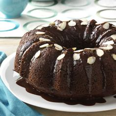 Almond Chocolate Cake    You'll fall in love with this rich and decadent cake.