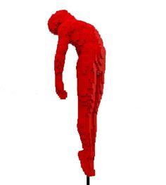 Red Lego Art