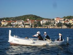 Krapanj gajeta used to be daily workhorse of local women rowing to their vinyard in some little island, not always very near. Women's Rowing, Dalmatia Croatia, Local Women, Adriatic Sea, Little Island, Central Europe, Natural Beauty, National Parks, Boat
