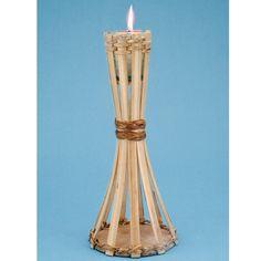 Natural Bamboo Mini Table Torch, 27117