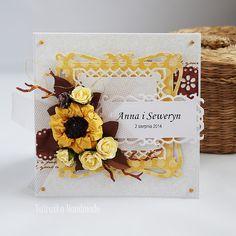 Odskocznia vairatki: Ze słonecznikiem Cardmaking And Papercraft, Wedding Cards, Scrapbooking, Paper Crafts, Frame, Handmade, Inspiration, Decor, Wedding Ecards