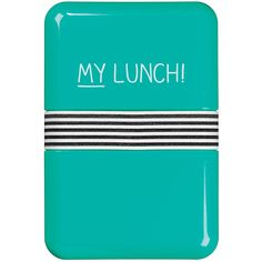 """Happy Jackson """"My Lunch"""" Lunch Box ($9.34) ❤ liked on Polyvore featuring home, kitchen & dining, food storage containers, blue, lunch pot, lunch box, lunch pail and blue box"""