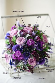 Wedding Bouquet Recipe – A Hand-Tied Bridal Bouquet of Spring Purples