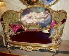 French Chair Louis XVI Marquise Furniture Velvet French Tufted
