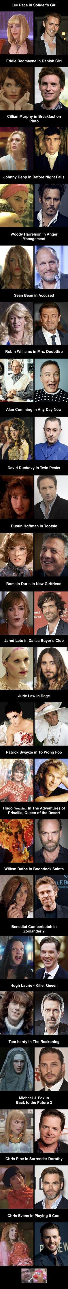 Actors in drag - 9GAG
