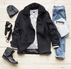 Casual winter fashion.