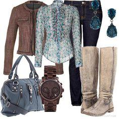 Combina colores y texturas esta temporada, logra un look otoñal de forma rápida. Busca más ideas en http://www.1001consejos.com/
