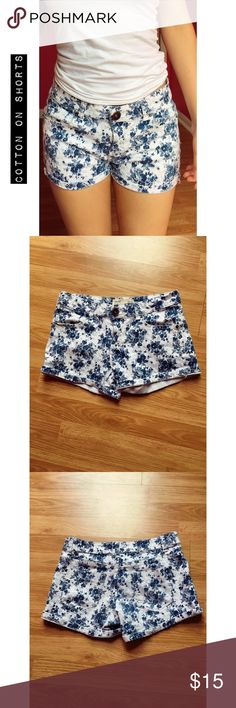 Cotton on shorts Super cute and comfortable! Worn gently but they're in perfect condition! No tears, stains, discoloration and comes from a smoke & pet free home! Cotton On Shorts