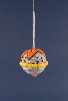Hand-Embroidered Peruvian Wool Baubles in Six Assorted Designs