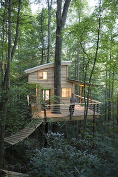 "Red River Gorge , ""The Sylvan Float"" Tree House Rental - The Canopy Crew"