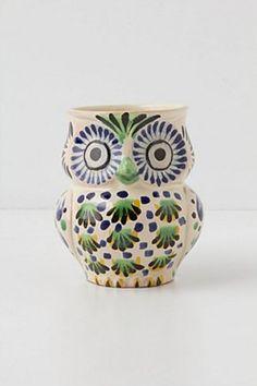 Handpainted Folk Owl Mug | Anthropologie.eu