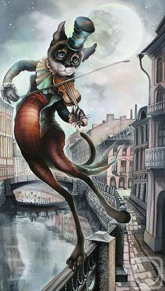 Sokolova Nadezhda. The Man on a Bow