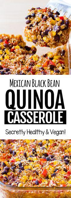 Mexican food recipes 74309462588361833 - Cheesy Vegan Mexican Black Bean Quinoa Casserole Recipe Source by choccoveredkt Vegan Quinoa Recipes, Healthy Recipes, Whole Food Recipes, Vegetarian Recipes, Healthy Food, Quinoa Dinner Recipes, Healthy Mexican Food, Healthy Black Bean Recipes, Easy Mexican Food Recipes