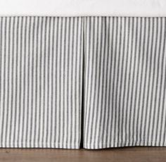 Garment-Dyed Ticking Stripe Crib Skirt