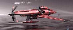 Schneider Trophy seaplane concept 2030 by Vincent Schmid - cars concept - 6d925432129263.571521c4554bb