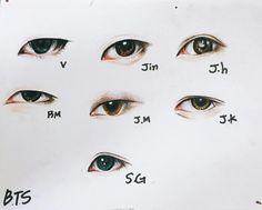 55 super ideas for eye sketch korean Drawing Tips, Drawing Reference, Drawing Sketches, Bts Eyes, Photo Manga, Eye Sketch, Kpop Drawings, Fan Art, Bts Chibi
