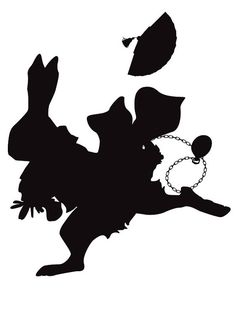 Alice's White Rabbit So Late  8x10 Silhouette Print by awedore, $20.00