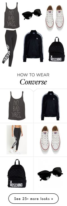 """""""#sporty #look #adidas #converse #moschino #good #vibes"""" by kat2514 on Polyvore featuring Billabong, adidas Originals, Converse and Moschino"""