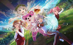 The BanG Dream! All Anime, Anime Love, Super Hero Life, Cute Anime Girl Wallpaper, Dream Anime, I Love Games, Dream Party, Pastel Palette, Mocca