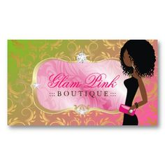 African american baker cup cakes business card african american 311 lavish pink platter golden divine lollipop business cards colourmoves Images
